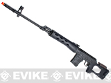 AIM Gas Blowback Russia Classic AK SVD Airsoft GBB Sniper Rifle - Black (580 FPS!)