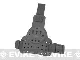 G-Code DLS RTI Tactical Kydex Drop Leg Holster Panel w/ Single Leg Strap (Color: Black)