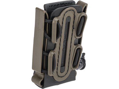 G-Code Soft Shell Scorpion Short Pistol Magazine Carrier with P1 Molle Clip (Color: Green Frame / Black Shell)