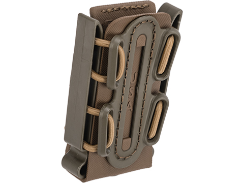 G-Code Soft Shell Scorpion Short Pistol Magazine Carrier with P1 Molle Clip (Color: Green Frame / Tan Shell)