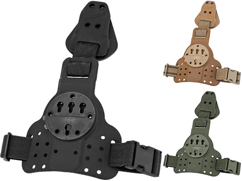 G-Code REAC RTI Tactical Kydex Drop Leg Holster Panel w/ Single Leg Strap