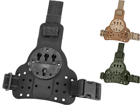 G-Code DLS RTI Tactical Kydex Drop Leg Holster Panel w/ Single Leg Strap (Color: Black)