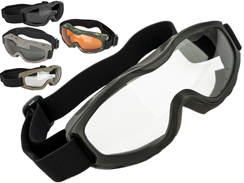 Guard-Dogs Evader II FogStopper Full Seal Goggles (Color: Matte Black / Clear)