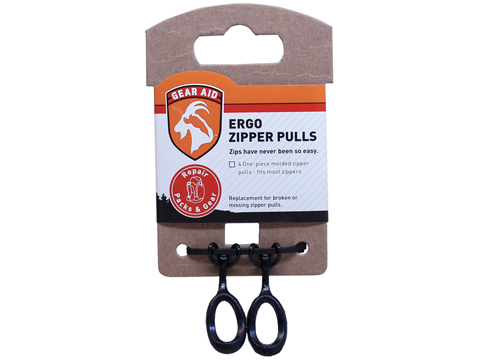 Gear Aid Ergo Zipper Pulls Kit (Color: Black)