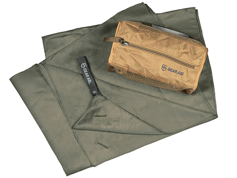 Gear Aid McNett Ultra Compact Microfiber Towel (Color: OD Green / Medium)
