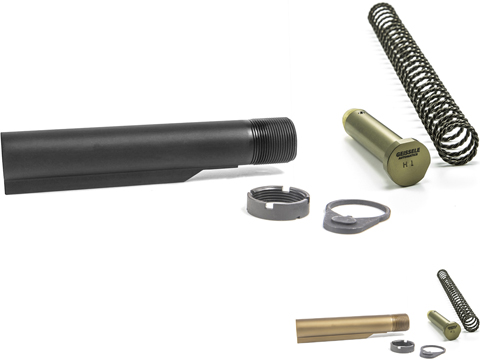 Geissele Automatics Premium 7075-T6 Aluminum Mil-Spec Buffer Tube Assembly w/ Super 42 Spring & H1 Buffer for M4 / AR15 Rifles