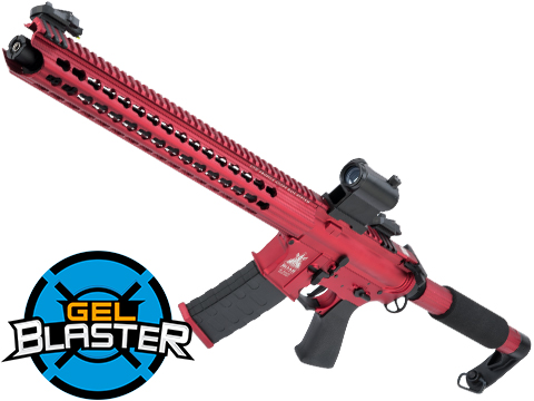 Gel Blaster Semi Automatic Airsoft 7.5mm Water Gel Ball Rifle (Model: M4 Contractor - Competition Red)
