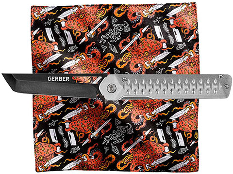 Gerber Classic Kit Ayako Clip Folding Pocket Knife w/ Octo Hank Cloth