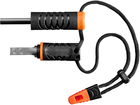 Gerber Fire Starter with Integrated Emergency Whistle