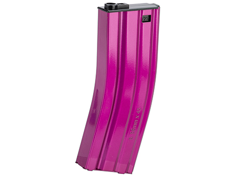 G&G Metal 125 Round Mid-Cap Magazine for G2 M4/M16 Series Airsoft Rifles (Color: Pink)