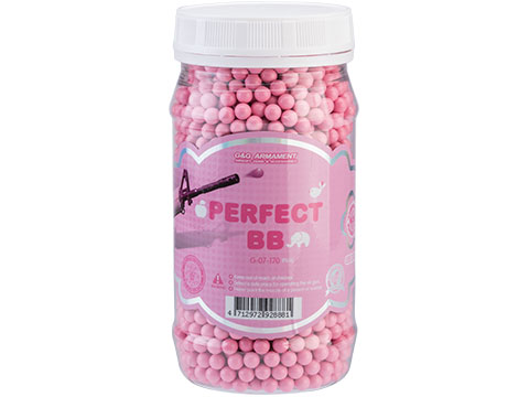 G&G Perfect 6mm Pink Airsoft BB (Weight: 0.20g / 2400 Rounds)