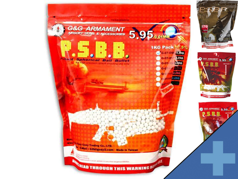 G&G High Grade 6mm Airsoft BB (Weight: .20g / 5000 Rounds / White)