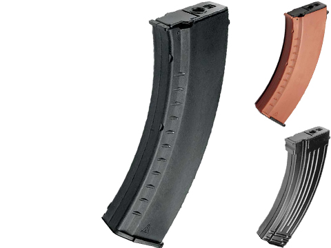 G&G 74 Type 600 Round Magazine For AK Series AEG (Color: Black)