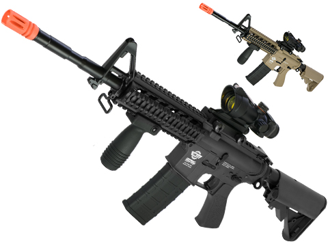 G&G Combat Machine 16 Raider Airsoft AEG Rifle (Package: Black / Gun Only)