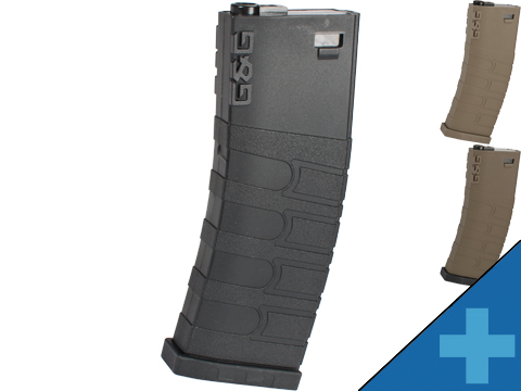 G&G Polymer 120rd Mid-Cap Magazine for M4 / M16 Series Airsoft AEG Rifles (Color: Black / Single Magazine)