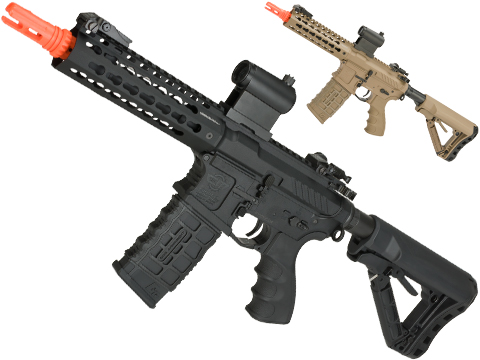 G&G Combat Machine CM16 SRS Airsoft M4 AEG Rifle with Keymod Rail (Package: Black / Gun Only)