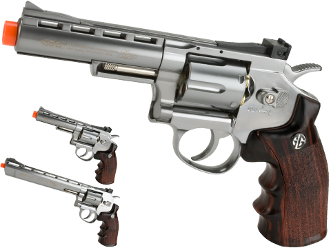 G&G G732 CO2 Full Metal  High Power Airsoft 6mm Magnum Gas Revolver (Length: 4 / Silver)