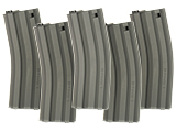 G&G Metal 79rd Mid-Cap Magazines for M4/M16 Series Airsoft AEG Rifles (Color: Black / Box of 5)
