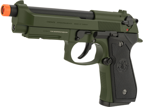 G&G GPM92 Full Metal Gas Blowback Airsoft Pistol (Color: Hunter Green)