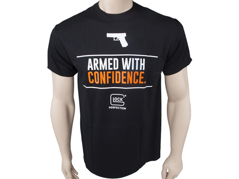 GLOCK Armed w/ Confidence Graphic Tee (Color: Black / 3X-Large)
