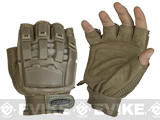 Matrix Half Finger Tactical Gloves - Tan (Size: MD/LG)