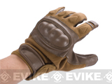 Nomex Hard Shell Knuckle Tactical Gloves (Color: Coyote / Medium)