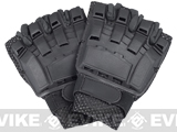 Matrix Terminator CQB Combat Tactical Gloves (Black) - Half Finger (Size: S)