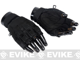 Matrix Terminator CQB Half Finger Black Combat Tactical Gloves (M/L)
