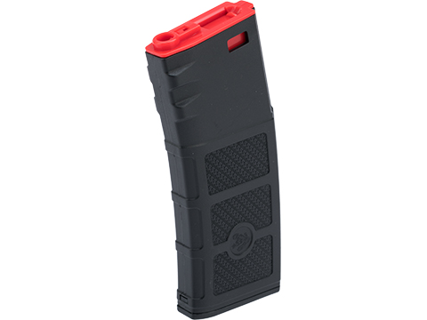 Evike High RPS Polymer Training Magazine w/ EV Texturing for M4 Airsoft AEG Rifles (Type: 360rd Hi-Cap / Black w/ Red Lip)