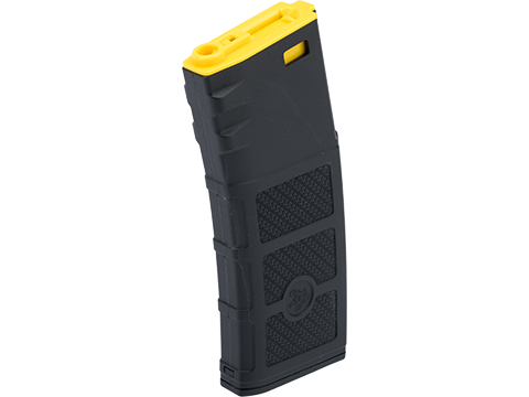 Evike High RPS 360rd Hi-Cap Polymer Magazine for M4 Airsoft AEG Rifles by G&P (Color: Black & Yellow / Single)