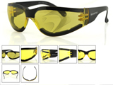 Bobster SHIELD III Shooting Sunglasses ANTI-FOG Yellow LENS / ANSI Z87