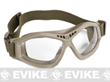 USMC Military Spec. Compact Rubber Frame Eye Goggles - Dark Earth