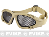 "Avengers ""Zero"" Wire Mesh Adjustable Shooting Range Goggles - Tan"