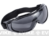 Edge Tactical Anti-Fog UV-400 Polycarbonate Lens Goggle (Color: Smoke Lens)