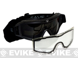 z Save Phace Tactical Eye Protection Elite Series Goggles w/ Smoke and Clear Lens