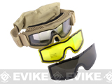 Save Phace Tactical Eye Protection Recon Series Goggles w/ 3 Thermal Lens - Dark Earth