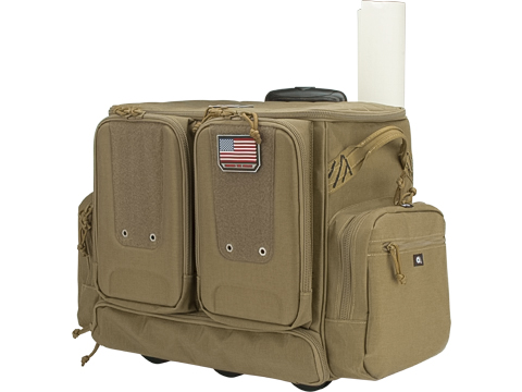 G-Outdoors Tactical Rolling Range Bag for 10 Handguns (Color: Tan)