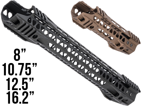 G&P MOTS II Upper Cut Keymod Handguard w/ Rails for M4 / M16 Series Airsoft AEG Rifles