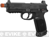 FN Herstal FNX-45 Tactical Airsoft Gas Blowback Pistol by Cybergun (Color: Black / Gun Only)