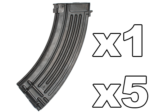 G&P 150rd High Precision Metal Mid-Cap Magazine for AK Series Airsoft AEG Rifles (Package: One Magazine)