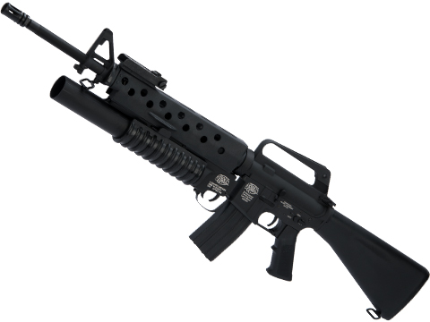 G&P Scar Face M16A1 VN w/ M203 Grenade Launcher Airsoft AEG Rifle and i5 Gearbox
