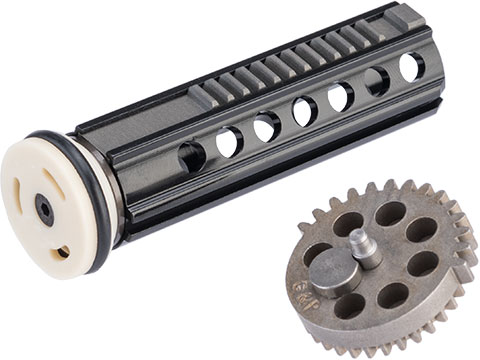 G&P Reinforced High Speed Aluminum Piston Set w/ Sector Gear for Airsoft AEG Gearboxes