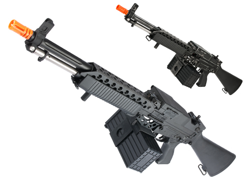 G&P Navy Mk63 Airsoft SAW Machine Gun AEG w/ Box Magazine (Model: Ver2 / Black)