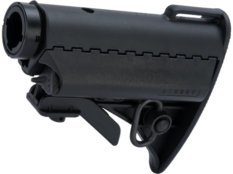 G&P Stubby Retractable Stock Complete Set for M4 Series Airsoft AEG (Color: Black)