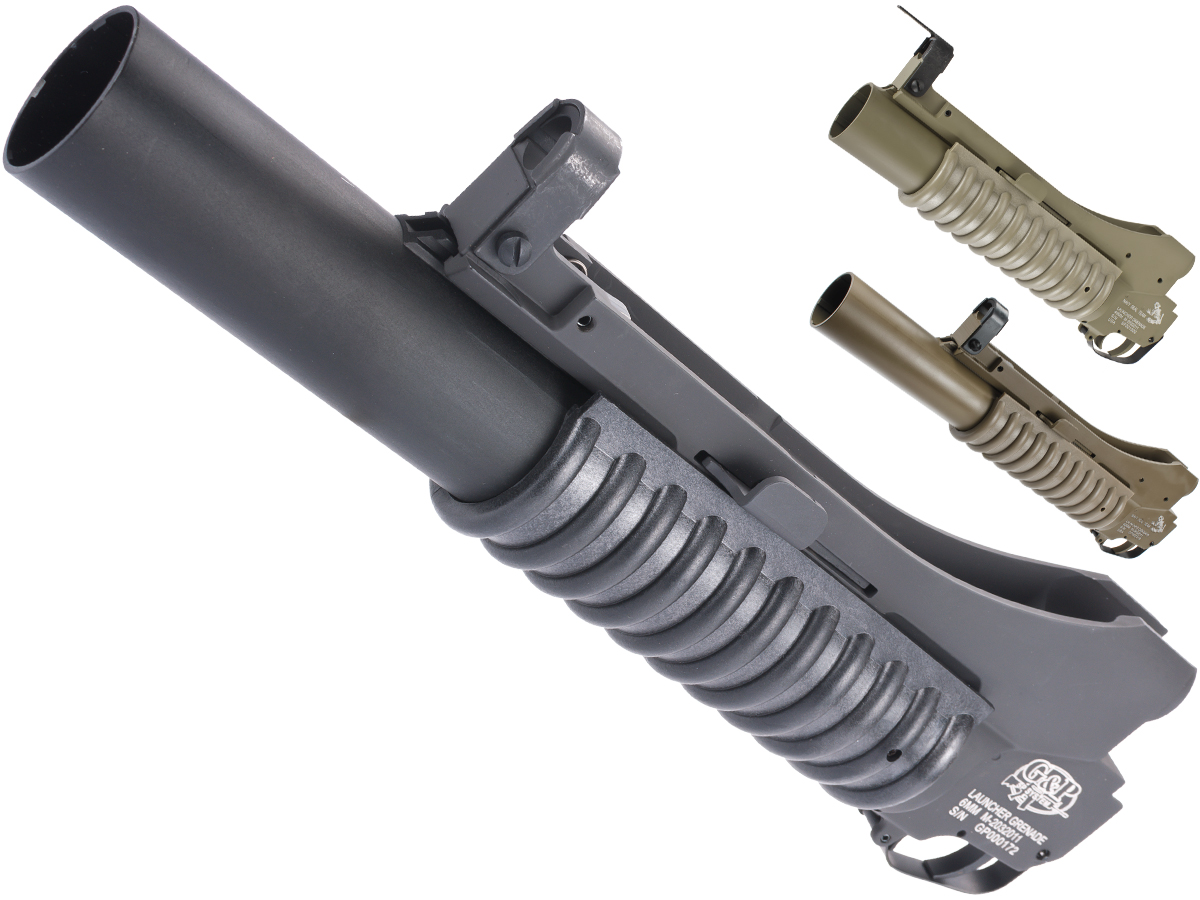 G&P Military Type M203 Grenade Launcher for M4 Series Airsoft Rifles (Color: Black / Long)