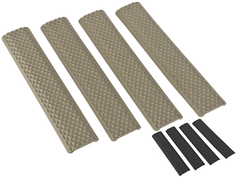 G&P Rubber Golfball Textured Keymod 6 Rail Covers - Set of 4