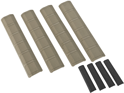 G&P Rubber Panel Type Keymod 6 Rail Covers - Set of 4