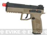 ASG CZ P-09 Suppressor Ready CO2 Airsoft GBB Pistol (Color: Flat Dark Earth)