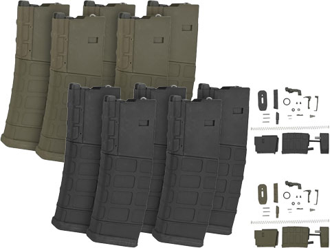 G&P PTS 39rd Magazine Kit for G&P King Arms WA M4 Airsoft GBB Blowback Rifles - Box of 5 (Color: Black)
