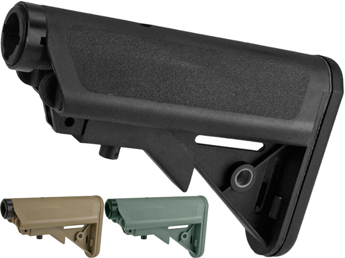 G&P Crane Type Stock and Buffer Tube Set for M4 / M16 Series Airsoft AEGs (Color: Black)